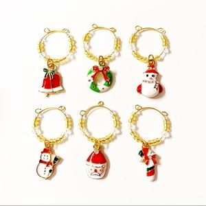 Other - Christmas Wine Glass Charms Set of 6